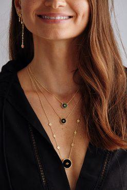 sanja gemstone sautoir necklace black onyx wish paris jewellery