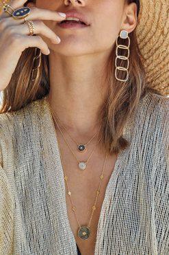 sanja gemstone sautoir necklace labradorite wish paris jewellery