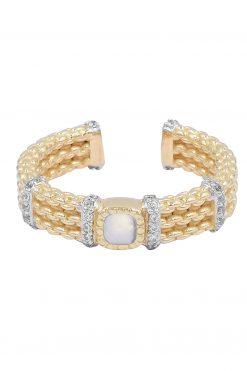 Kaia adjustable thin gemstone ring mother of pearl wish paris jewellery