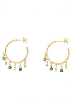 nati gemstone hoop earrings aventurine wish paris jewellery