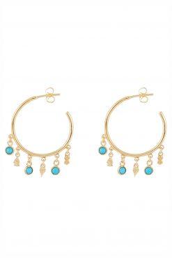nati gemstone hoop earrings turquoise wish paris jewellery