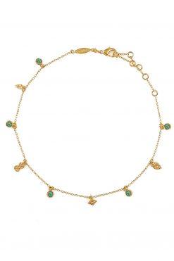 nati gemstone anklet aventurine wish paris jewellery