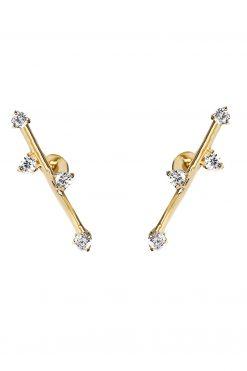 delia gemstone stud earrings white zircons wish paris jewellery