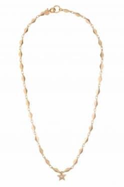caroline choker necklace solid gold and zirconium wish paris jewellery