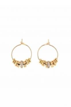 stella pendant hoop earrings zirconium