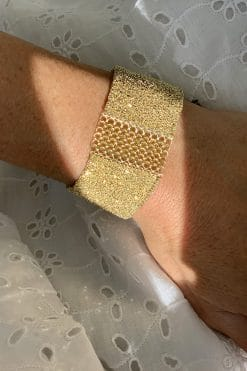 cuff gold gold mesh wish paris jewellery