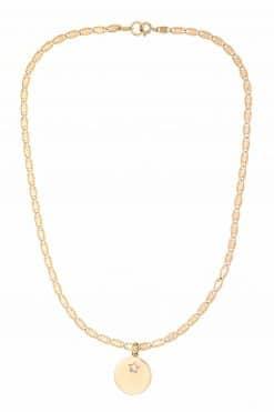 yael necklace solid gold pendant medal zircon wish paris jewellery