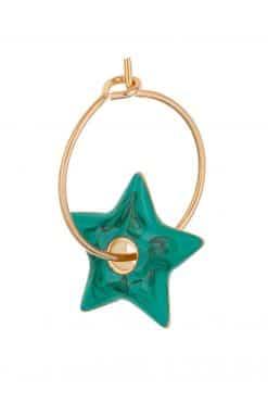 282 hoop charm star enamaled anemone wish paris jewellery 1