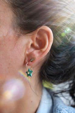 282 hoop charm star enamaled anemone wish paris jewellery 2