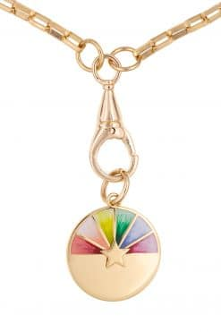 285 laurie rainbow medal pendant necklace solid gold wish paris jewellery 1