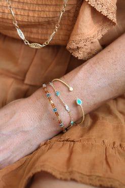 sati bead bracelet orange garnet apatite tityaravy wish paris jewellery