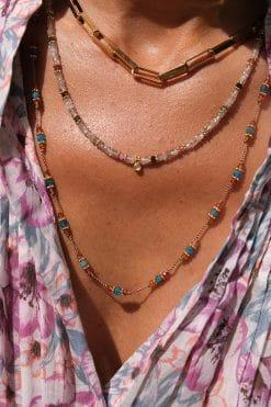 padma bead long necklace sautoir apatite garnet tityaravy wish paris jewellery