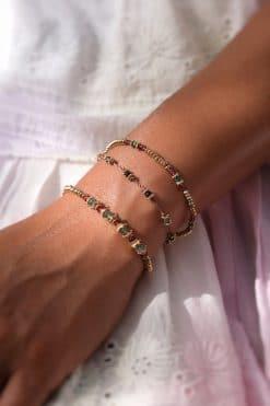 lotus bracelet beige ruby zoisite tityaravy wish paris jewellery