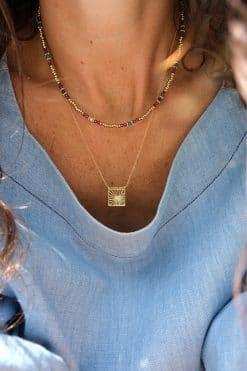 jamuna bead necklace garnet chrysoprase tityaravy wish paris jewellery