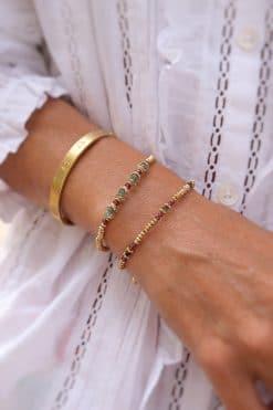 jamuna bead bracelet garnet chrysoprase tityaravy wish paris jewellery