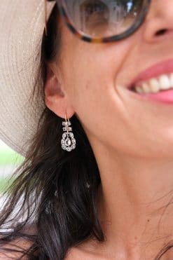 earrings pendant dorothy white topaz vintage dorothee sausset wish paris jewellery