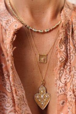 ray of light gemstone necklace garnet dorothee sausset wish paris jewellery