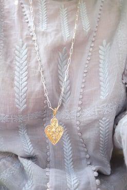 anahata heart charm xl maxi metal dorothee sausset wish paris jewellery