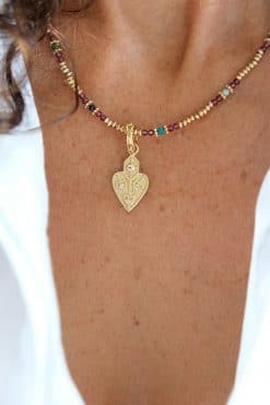anahata heart gold charm crystal dorothee sausset wish paris jewellery