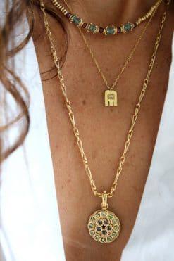 charm mandala pendant gemstone sapphire tsavorite dorothee sausset wish paris jewellery