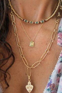 thali pendant gold chain necklace crystal polki dorothee sausset wish paris jewellery