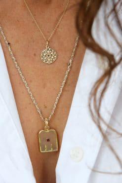 thali charm crystal garnet dorothee sausset wish paris jewellery