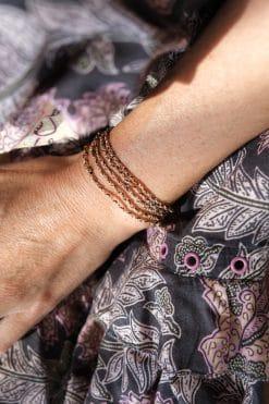 bracelet necklace luxury gri gri gold ruthenium marie laure chamorel mls 182 pink gold brown wish paris jewellery 1