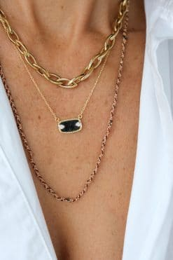veronica necklace chocker solid gold luj paris wish paris jewellery